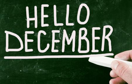 december: hello december Stock Photo