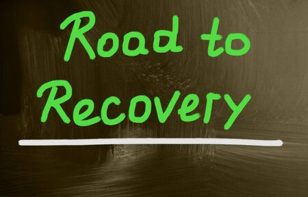 recovery: road to recovery Stock Photo