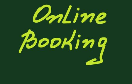 booking: online booking Stock Photo