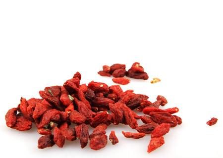 chinese wolfberry: goji berry isolated
