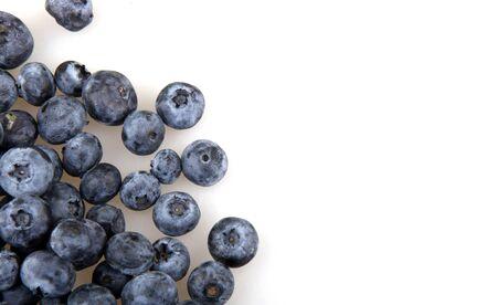 Close-up studio shot of organic blueberries
