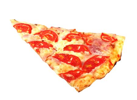 Freshly baked pizza isolated on white background Stock Photo
