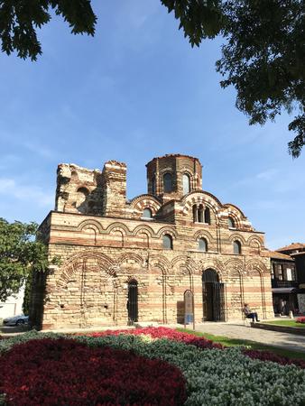 Nesebar, Bulgaria - October 06, 2017: Christ Pantocrator Church in the UNESCO world heritage town.