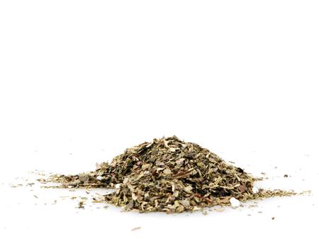 Green tea isolated on white background. Stock Photo