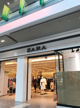 Burgas, Bulgaria - March 07, 2018: Zara store in Burgas. Zara is a Spanish clothing and accessories retailer based in Arteixo, Galicia.