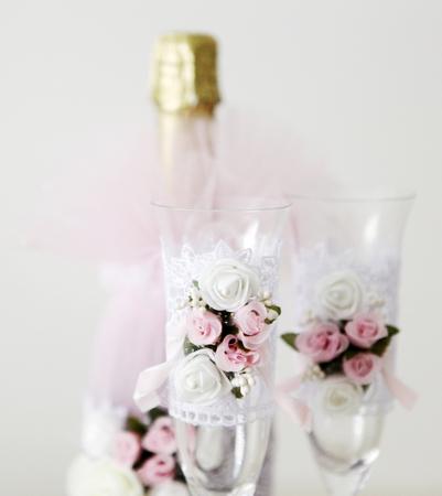Glasses of champagne Stock Photo