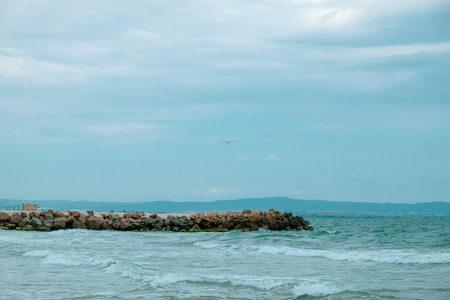 Beautiful sea view from Pomorie, Bulgaria.