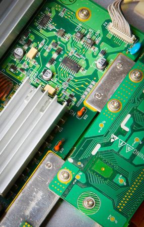 Microchip on motherboard Stok Fotoğraf