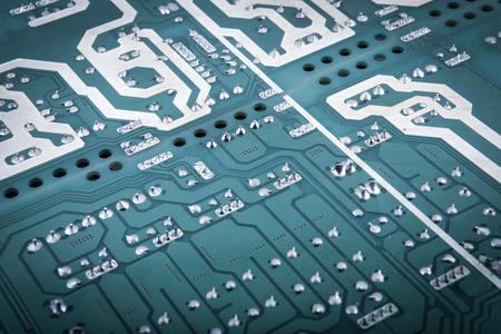 Computer circuit board, close up.
