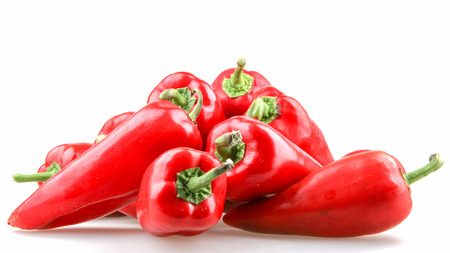 Red pepper isolated on white background Banque d'images