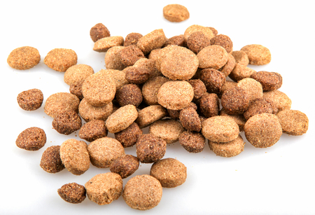 Dried pet food isolated on white background. 写真素材