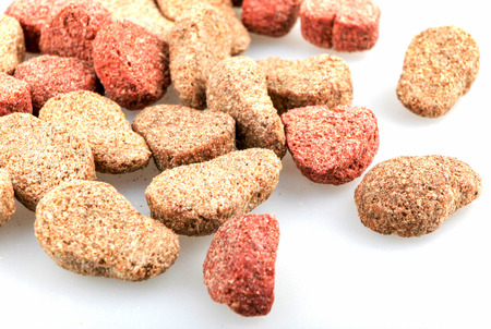Dried Pet Food Isolated On White Background 版權商用圖片