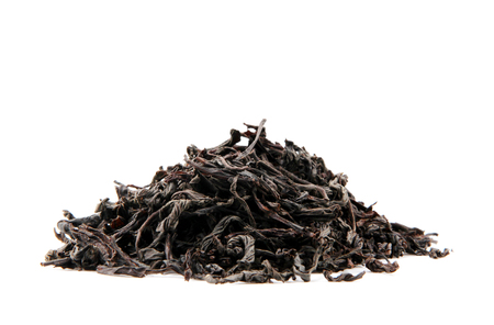 Black Tea Leaves Isolated On White