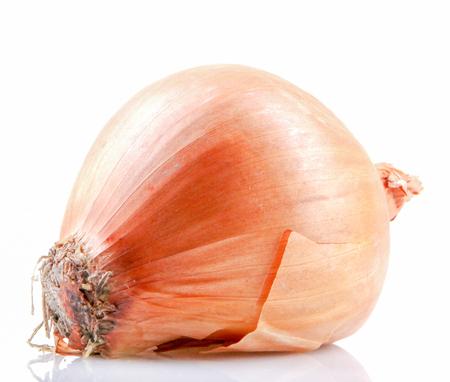Fresh onion bulbs isolated on white background 版權商用圖片