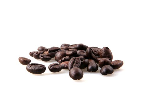 Coffee Beans Against White Background Stock Photo