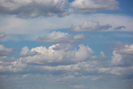 Shot Of White Clouds On Blue Sky