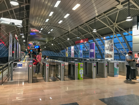 Sofia, Bulgaria - June 09, 2019: Sofia Metro Is The First And Only In Bulgaria. Currently The Metro Has 2 Lines With A Total Length Of 39 Km And 34 Metro Stations. 에디토리얼