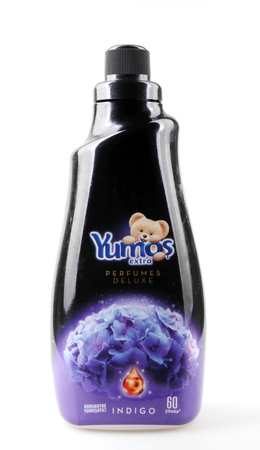 Pomorie, Bulgaria - June 23, 2019: YumoÅŸ is a brand of softeners belonging to Unilever by 2008. In 2008, it was sold to Sun Products, which is already part of Henkel. Editoriali