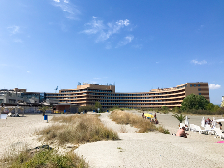 Pomorie, Bulgaria - September 01, 2019: Grand Hotel Pomorie Is A 5-Star Luxury Beachfront Hotel Situated Between The Shores Of The Black Sea And The Pomorie Salt Lake.