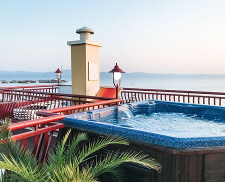 Terrace Jacuzzi With A Beautiful Sea View