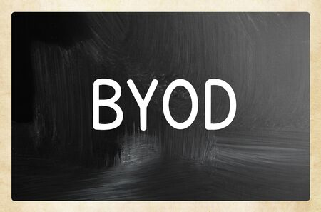 byod concept - bring your own device