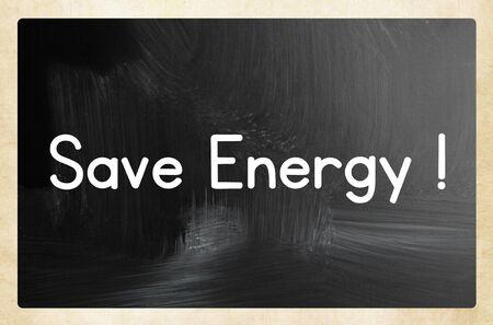 Energie sparen Konzept