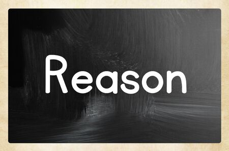 reason concept Stok Fotoğraf
