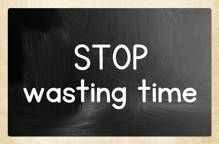 stop wasting time 스톡 콘텐츠