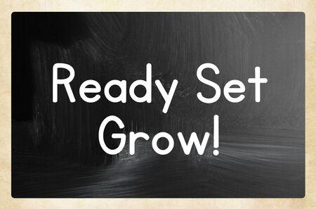 ready set grow concept Фото со стока