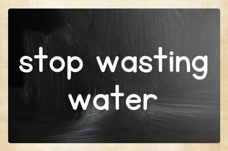 stop wasting water 版權商用圖片