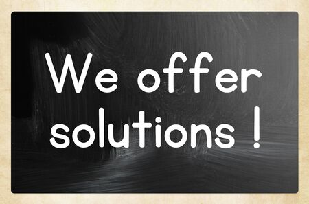 we offer solutions! 写真素材