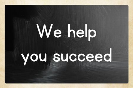 we help you succeed 版權商用圖片