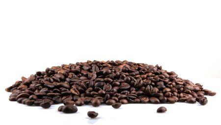 Fresh Roasted Coffee Beans Isolated On White Background