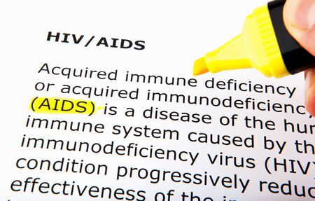 HIV / AIDS over yellow highlighter