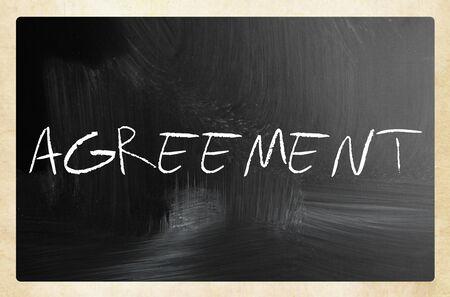 Text AGREEMENT on blackboard