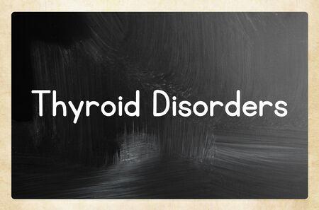 Thyroid disorders on blackboard