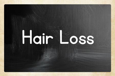Hair loss on blackboard