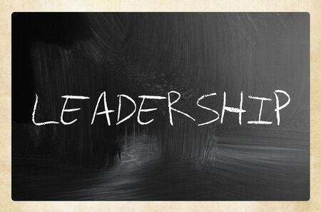 LEADERSHIP on a blackboard.