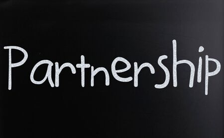 "The word ""Partnership"" on a blackboard"