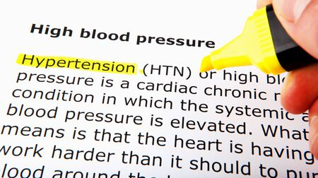High blood pressure over yellow highlighter