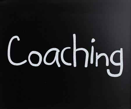 """Coaching"" on a blackboard"