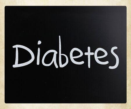 """The word """"Diabetes"""" on a blackboard"""