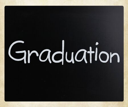 The word Graduation on a blackboard