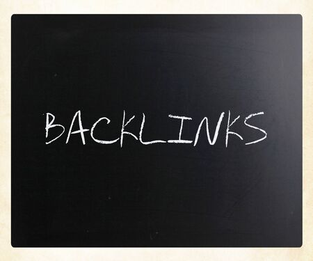 "The word ""Backlinks"" on a blackboard"