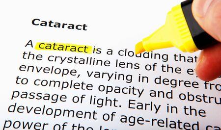 Cataract over yellow highlighter