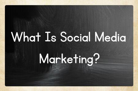 What is social media marketing word on a blackboard