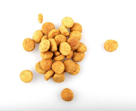 Dry pet food against white background Stock fotó