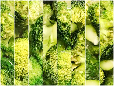 Fresh Organic Broccoli. Brassica Oleracea Var. Italica Imagens
