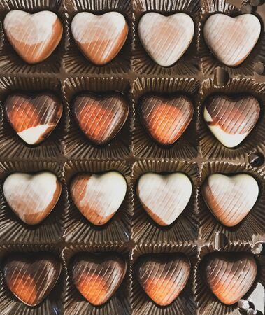 Heart Shaped Chocolates In A Festive Box.