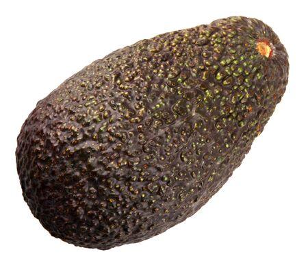 Fresh Hass Avocado Against White Zdjęcie Seryjne